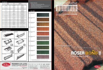 Roser Bond Roofing Tiles