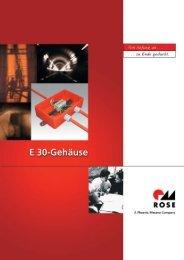 ROSE E30-Gehäuse - das Produktspektrum