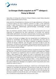 Le Groupe Vitalia acquiert sa 47ème clinique à Paray le Monial def