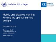 Finding the optimal learning designs - Forschungsgruppe Mobile ...