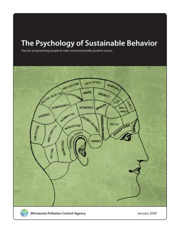 The Psychology of Sustainable Behavior - Center for Cognitive ...