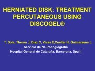 herniated disk: treatment percutaneous using discogel