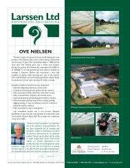 OVE NIELSEN - Larssen Ltd. :: Greenhouse Engineers