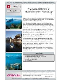 Vierwaldstättersee & Murmeltierpark Klewenalp - Hehle Reisen