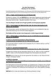 Protokoll vom 18.Juli 2012 - Nußloch