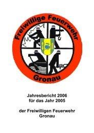 Jahresbericht 2006 für das Jahr 2005 - bei der Feuerwehr Gronau
