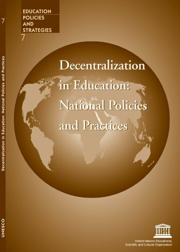 Decentralization Policies and Strategies in Education ...