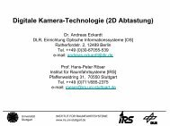 2D Abtastung - Institut für Raumfahrtsysteme - Universität Stuttgart