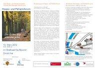 Informationen zum Hospiz- und Palliativforum - Sozialportal Ostallgäu