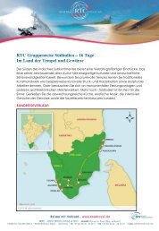 Download PDF Datei - RTC Rose Travel Consulting