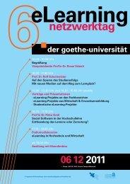 eLearning-Netzwerktag-Flyer 2011 - studiumdigitale - Goethe ...