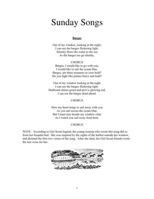 Sunday Songs - Waukeela Camp for Girls