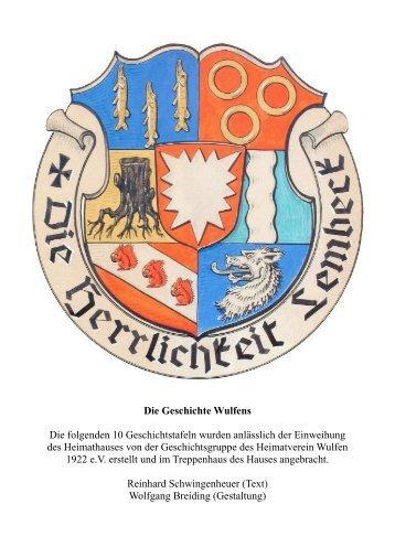 Die Geschichte Wulfens - Heimatverein Wulfen 1922 eV