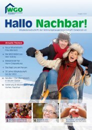 Hallo Nachbar 3/2012 - Wohnungsbaugenossenschaft Osnabrück eG