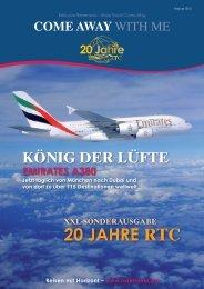 20 jAHRE rTC - RTC Rose Travel Consulting