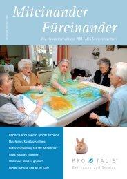 Die Hauszeitschrift der PRO TALIS Seniorenzentren