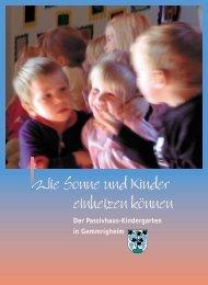 Passivhaus-Kindergarten - Zukunftsenergien Region Stuttgart