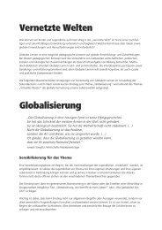 Vernetzte Welten Globalisierung - SOS Kinderdorf