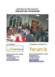 Zukunft der Innenstadt - Stadt Obernkirchen