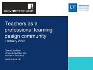 Teachers as a professional learning design community