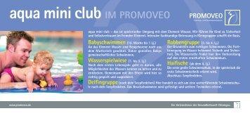 aqua mini club IM PROMOVEO - Simssee Klinik