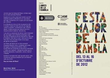 DEL 13 AL 16 D'OCTUBRE DE 2012 - La Rambla