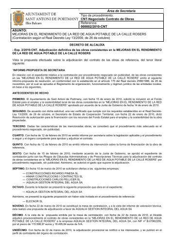 2/2010-CNT. Adjudicación definitiva - Ajuntament Sant Antoni de ...