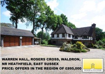 warren hall, rosers cross, waldron, nr heathfield, east - Vebra