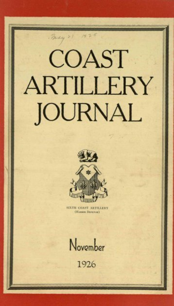 COAST. I ARTILLERY JOURNAL, - Air Defense Artillery