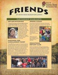 Friends Newsletter - City of Santa Rosa