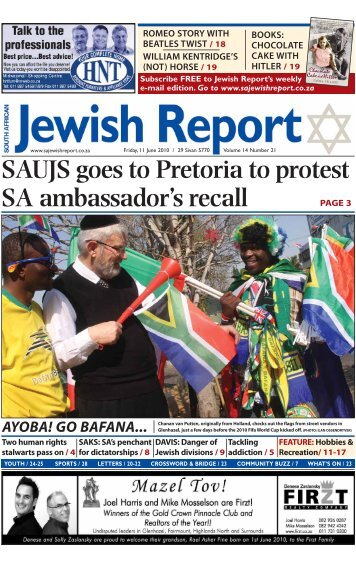 jewish south african dating Friendfinder does not conduct criminal background screening of its members to learn about internet dating safety, click hereclick here.
