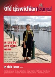 In this issue ... A rose by any other name - Ipswich School