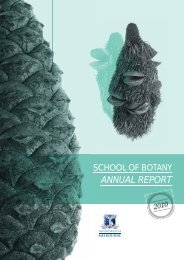 2010 Annual Report - School of Botany - University of Melbourne