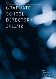 graduate school directory 2011/12 - Camberwell College of Arts ...