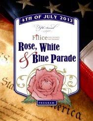 Rose, White Blue Parade