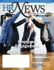 October 2010 issue of HR News magazine - IPMA