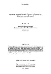 Using the Message Security Protocol to Support the Directory ...