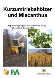 Kurzumtriebshölzer und Miscanthus - Baden-Württemberg