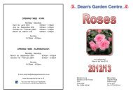 Rose Catalogue 2013 - York - Dean's Garden Centre