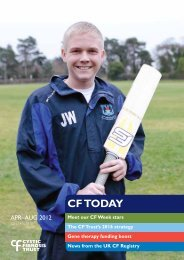 CF Today Summer 2012 - Cystic Fibrosis Trust