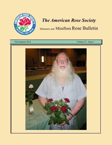 Miniature Rose Bulletin Q1 2012 - Paul Zimmerman Roses