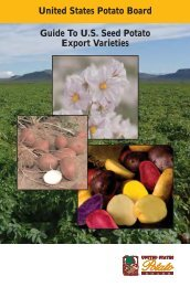 United States Potato Board Guide To US Seed Potato Export Varieties