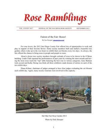 Rose Ramblings - San Diego Rose Society
