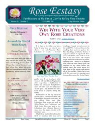 WIN WITH YOUR VERY OWN ROSE CREATIONS - Santa Clarita ...