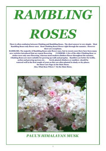 ONLINE BROCHURE Rambling Roses - Country Garden Roses