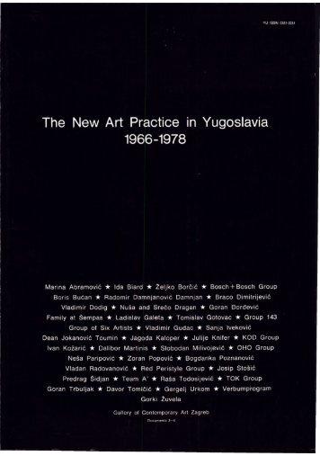 The New Art Practice in Yugoslavia, 1966-1978