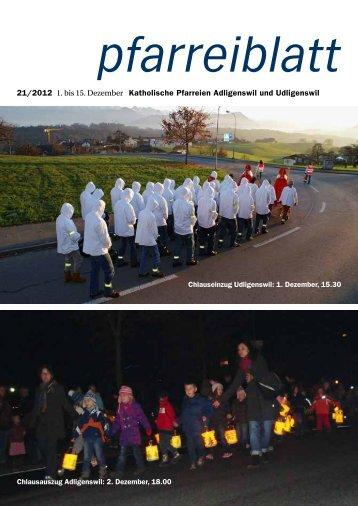 Wann fängt Weihnachten an? - Pfarrei St. Martin Adligenswil