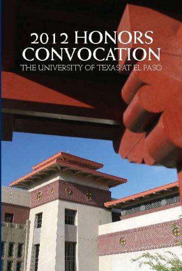 2012 Program [PDF] - University of Texas at El Paso