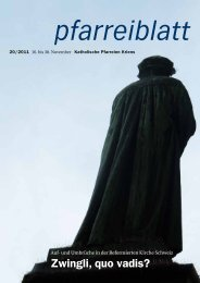 Pfarreiblatt 20/2011 - Katholische Kirchgemeinde Kriens