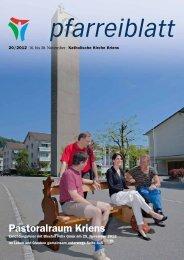 Pfarreiblatt 20/2012 - Katholische Kirchgemeinde Kriens